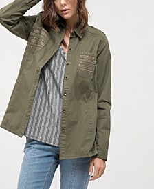 Mixed Striped Back Panel Top