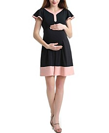 Regan Maternity Colorblock Skater Dress