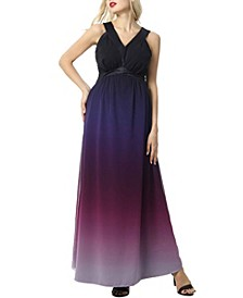 Valencia Maternity Ombre Maxi Dress
