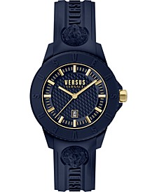 Men's Toyko R Blue Silicone Strap Watch 43mm
