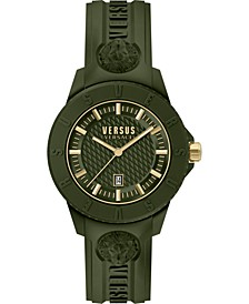 Men's Tokyo R Green Silicone Strap Watch 43mm