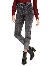 Juniors' Acid-Wash Corduroy Skinny Pants