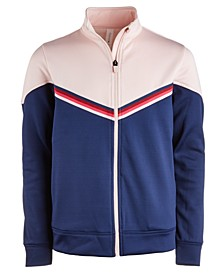 Big Girls Chevron Colorblocked Track Jacket, Created For Macy's
