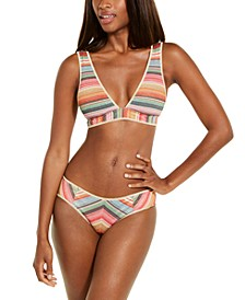 West Village Printed Halter Bikini Top & Hipster Bottoms