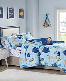 CLOSEOUT! Ace 5-Pc. Twin Comforter Set