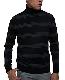 Men's Striped Turtleneck Sweater