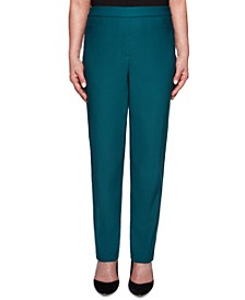 Petite Classics Tummy-Control Pull-On Straight-Leg Pants