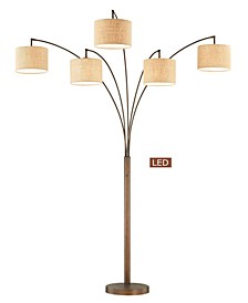 "Lucianna 83"" 5-Arch LED Floor Lamp with Dimmer"