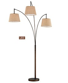 "Luce 84"" LED 3-Arch Floor Lamp with Dimmer"