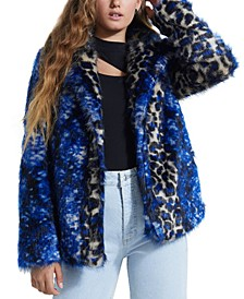 Wild Kingdom Faux Fur Coat