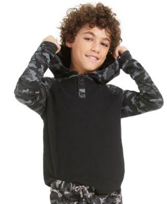 Big Boys Camo-Print Thermal Hoodie, Created For Macy's