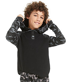 Epic Threads Big Boys Camo-Print Thermal Hoodie, Created For Macy's