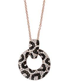 "EFFY® Diamond Animal Print 18"" Pendant Necklace (1-1/4 ct. t.w.) in 14k Rose Gold"