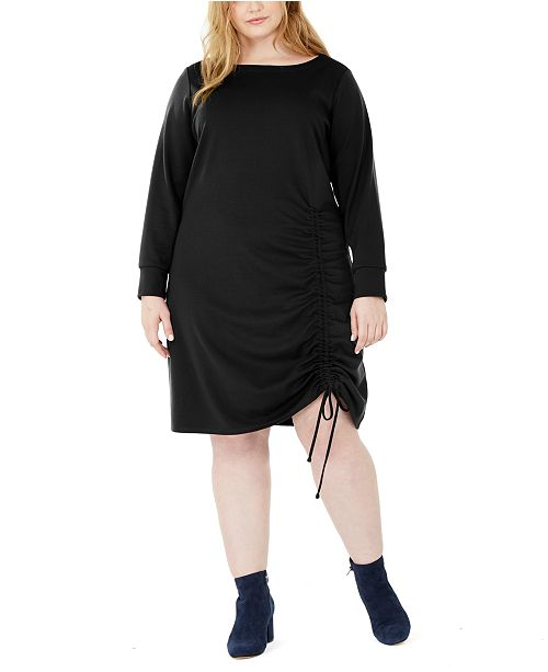 NY Collection Plus Size Ruched Hem Dress