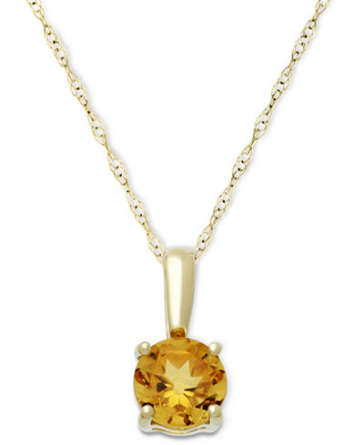 Citrine Pendant Necklace in 14k Gold (5/8 ct. t.w.)