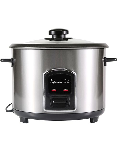 Continental 12-Cup Rice Cooker with Glass Lid