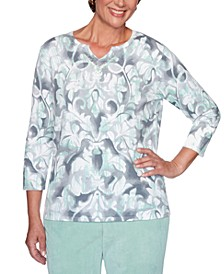 Lake Geneva Printed Cotton Sweater