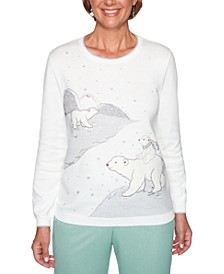Lake Geneva Polar Bear Embellished Sweater