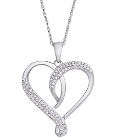 Diamond 1/4 ct. t.w. Heart Pendant Necklace in Sterling Silver