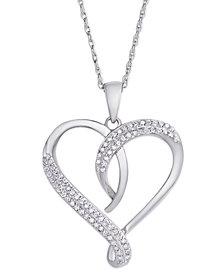 Diamond 1/4 ct. t.w. Heart Pendant Necklace in Sterling Silver