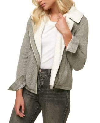 ONeill Womens Latte Zip Fleece with Sherpa Collar