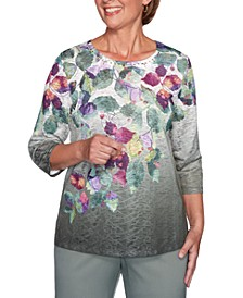 Loire Valley Printed Textured Top