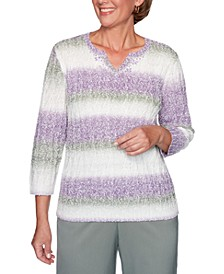 Loire Valley Marled-Knit Striped Sweater