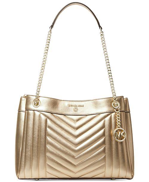 Michael Kors Susan Metallic Medium Shoulder Bag
