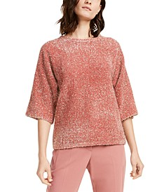 Eyelash Metallic Sweater, Created For Macy's