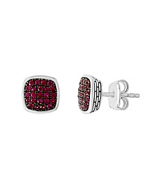 EFFY Certified Ruby (1/2 ct. t.w.)  Earrings in Sterling Silver