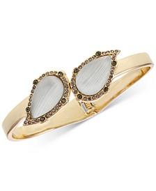 Gold-Tone Pavé & Stone Bangle Bracelet