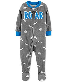 Baby Boys Dino Roar Fleece Footed Pajamas