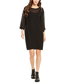 Silk 3/4-Sleeve Dress