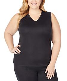 Plus Size Softwear Lace-Edge V-Neck Tank Top