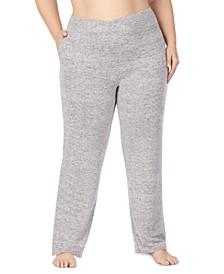 Women's Plus Size Soft Knit Lounge Pants