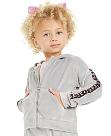 Toddler Girls Velour Zip-Up Hoodie, Created for Macy's