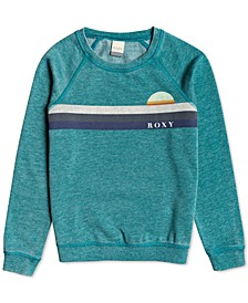 Big Girls Fleece Logo Top