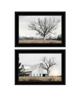 "Ohio Fields I 2-Piece Vignette by Lori Deiter, Black Frame, 21"" x 15"""