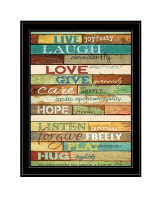"Live Joyfully by Marla Rae, Ready to hang Framed Print, Black Frame, 21"" x 27"""
