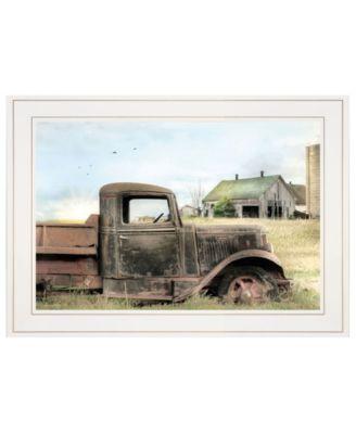 "Vintage-Like Farm Trucks I by Lori Deiter, Ready to hang Framed Print, White Frame, 15"" x 21"""