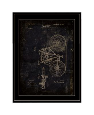 """Motor Bike Patent by Cloverfield Co, Ready to hang Framed Print, Black Frame, 15"""" x 19"""""""