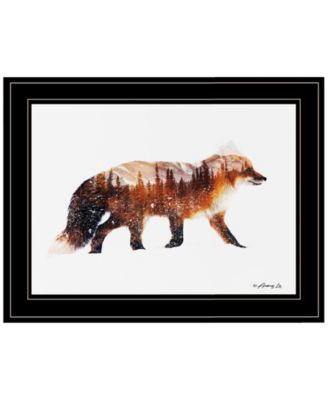 Arctic Red Fox by andreas Lie, Ready to hang Framed Print, Black Frame, 15