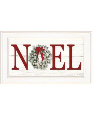 "Christmas Noel by Lori Deiter, Ready to hang Framed Print, White Frame, 21"" x 12"""