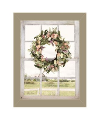 """Summer View by Lori Deiter, Ready to hang Framed Print, Taupe Window-Style Frame, 14"""" x 18"""""""