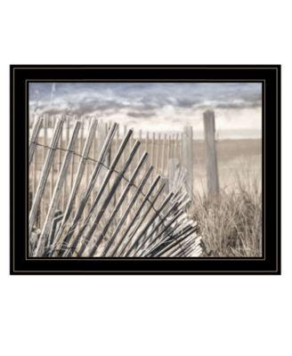 "On The Coastline by Lori Deiter, Ready to hang Framed Print, Black Frame, 27"" x 21"""