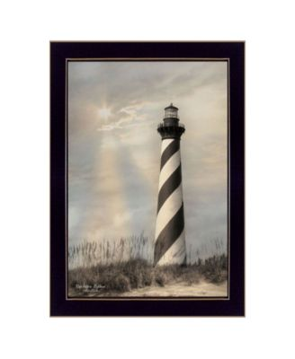 Cape Hatteras Lighthouse By Lori Deiter, Printed Wall Art, Ready to hang, White Frame, 14