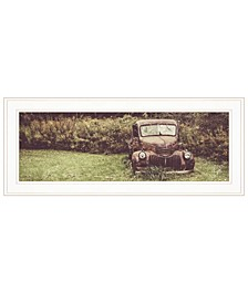 """Rusty Clearing by Justin Spivey, Ready to hang Framed Print, White Frame, 27"""" x 11"""""""