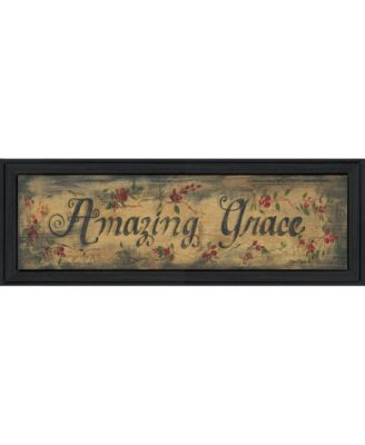 """Amazing Grace By Gail Eads, Printed Wall Art, Ready to hang, Black Frame, 23"""" x 8"""""""