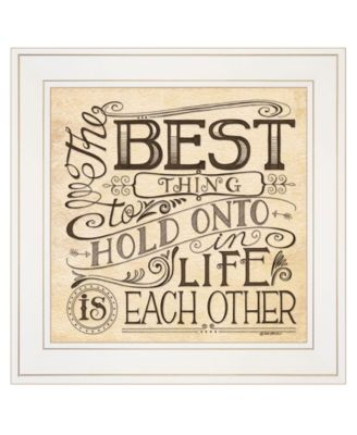 """Each Other by Deb Strain, Ready to hang Framed Print, White Frame, 15"""" x 15"""""""