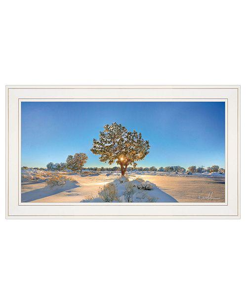 "Trendy Decor 4U Trendy Decor 4U Snow Covered III by Dale MacMillan, Ready to hang Framed Print, White Frame, 27"" x 15"""